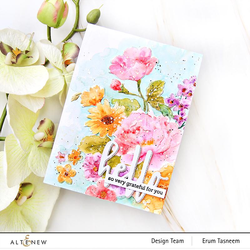 Altenew Craft Your Life Project Kit: Lush Garden | Erum tasneem | @altenew