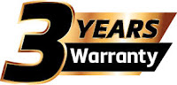 ES520 3 year factory warranty