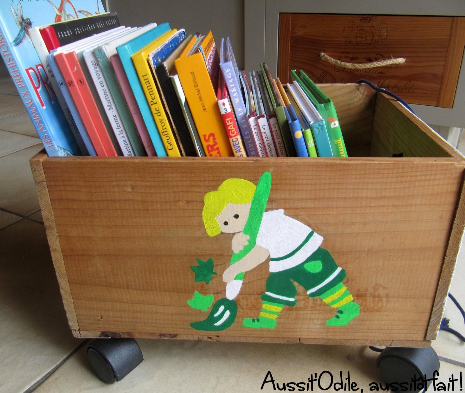 Caisse En Bois Pour Livre aussit'odile, aussitôt fait !: bibliothèque d'appoint