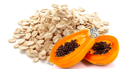Skincare with papaya and oatmeal face pack for glowing skin