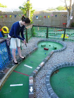 Crazy Golf course at The Alexandra Inn, Penzance, Cornwall