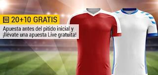 bwin promocion 10 euros Nastic vs Tenerife 20 agosto