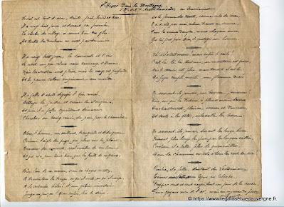 Vieux papiers,  poète anonyme