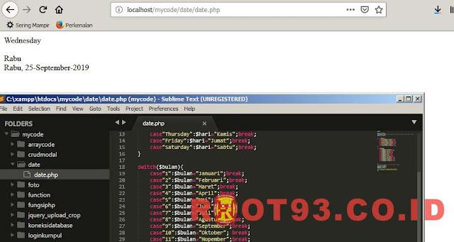 Merubah Format Hari dan Bulan ke Dalam Bahasa Indonesia di PHP - root93