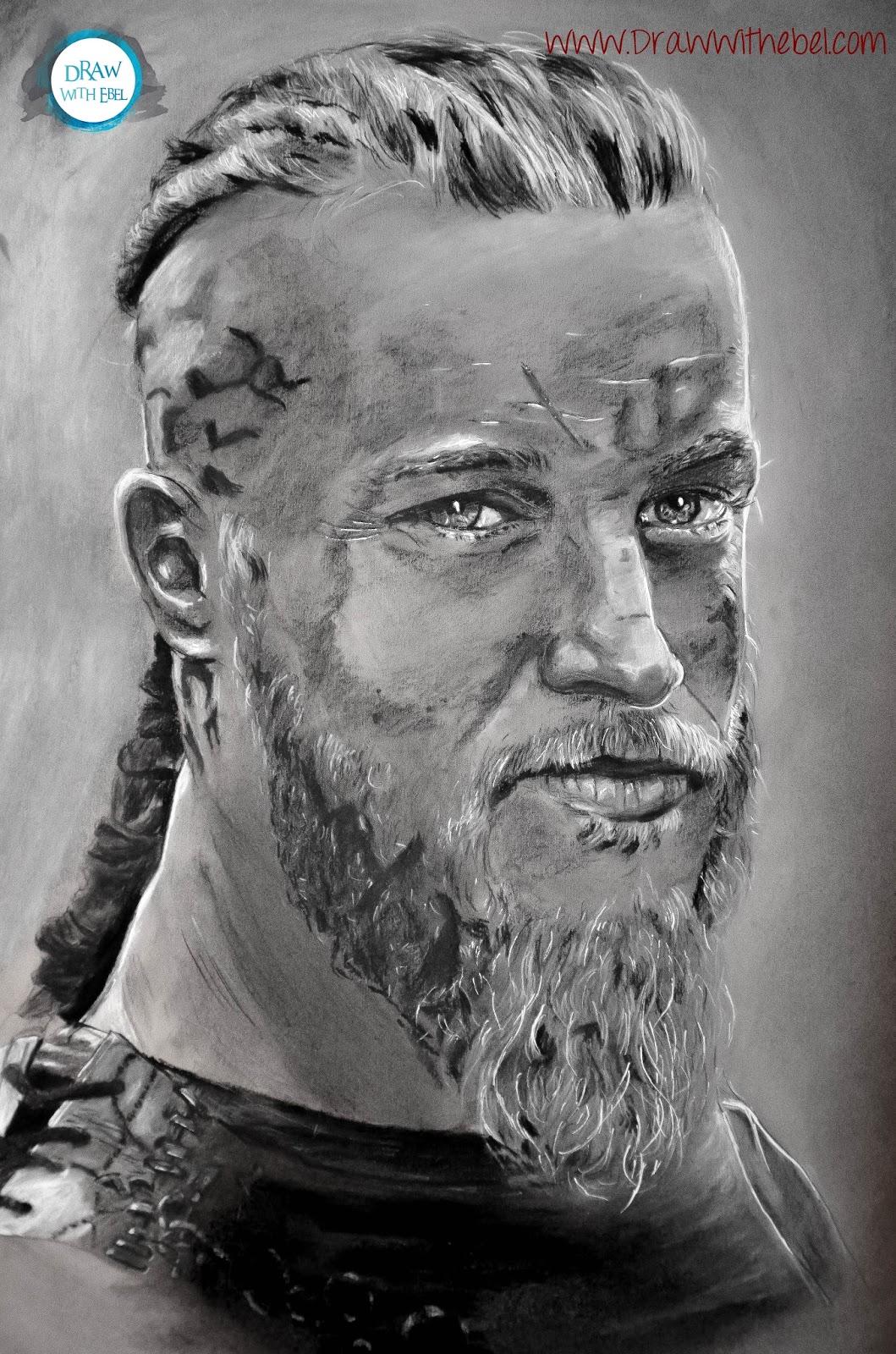 Draw With Ebel: Speed Drawing De Ragnar Lodbrok