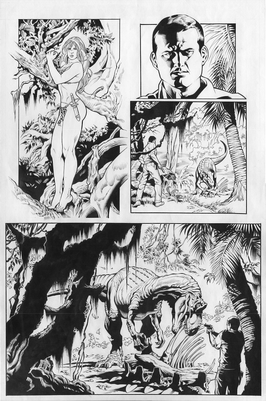Jungle Girl is a fictional comic book character (possibly based on the Hanna-Barbera cartoon Jana of the Jungle) that appears in books published by Dynamite Entertainment.