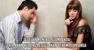 Setelah Menjadi Suami Anda Pria akan Kurang peduli akan penampilan anda