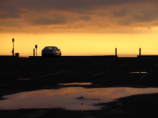 Sunset in Wellfleet, MA after rainstorm