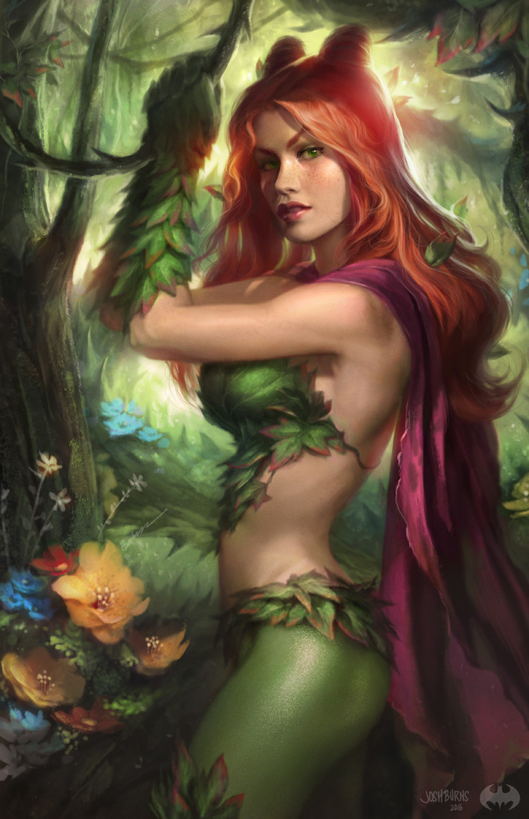 Джош Бёрнс, Josh Burns, DC Comics, Poison Ivy, Ядовитый Плющ