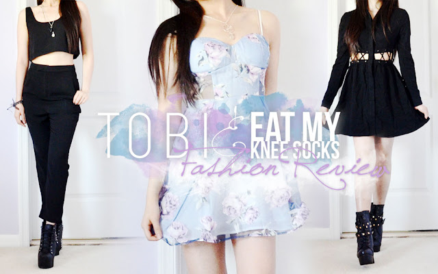 Today I've teamed up with online fashion retailer Tobi to bring you all a review and styling guide of three lovely pieces, including their Queen Bee two-piece set, Dreamin' of Sunshine floral dress, and Kailee lace-up shirt dress. For the full details, keep on reading! - Eat My Knee Socks / Mimchikimchi