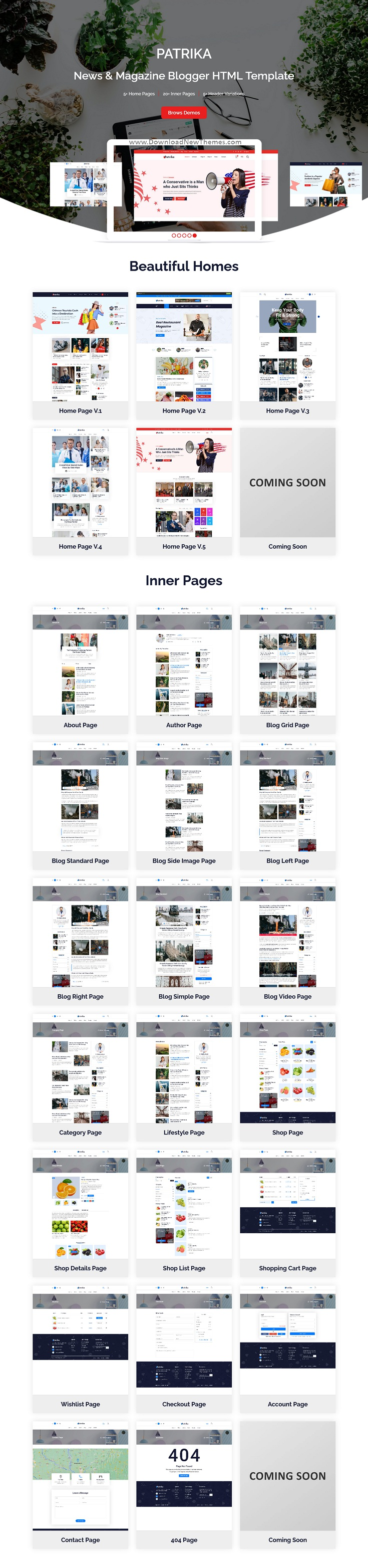 News and Magazine Blogger HTML Template