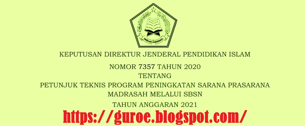 Juknis Peningkatan Sarana Prasarana Madrasah Melalui SBSN Tahun 2021