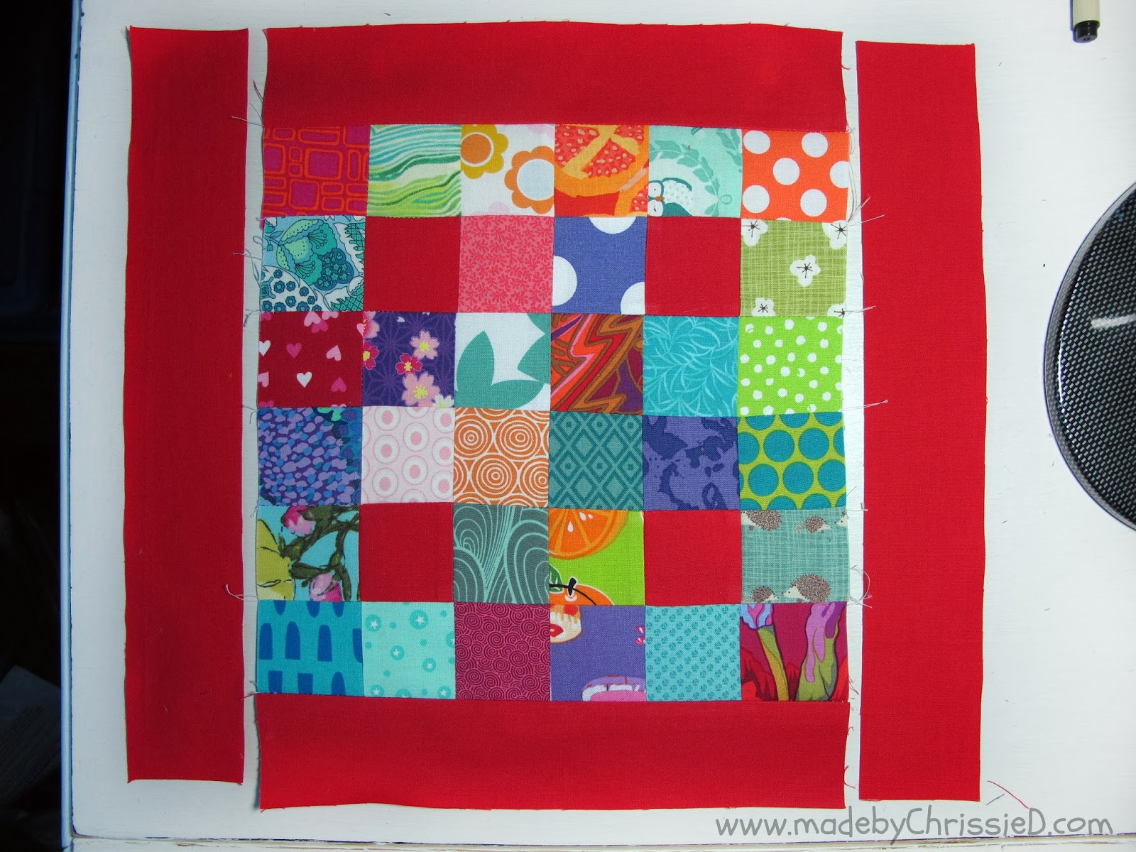 Easy Scrappy Nine Patches Tute by www.madebyChrissieD.com