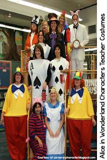 Elementary teachers dress up for Halloween to enhance student engagement.