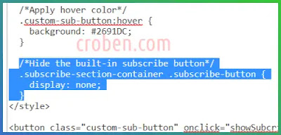Show Subscribe Dialogue In Blogger Step 4.5