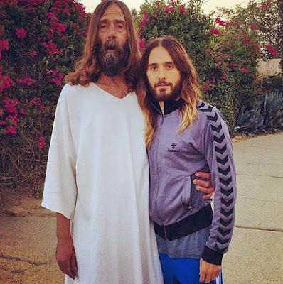 Lustige Menschen Bilder Jesus Christus mit seinem Vater - Gott witzig