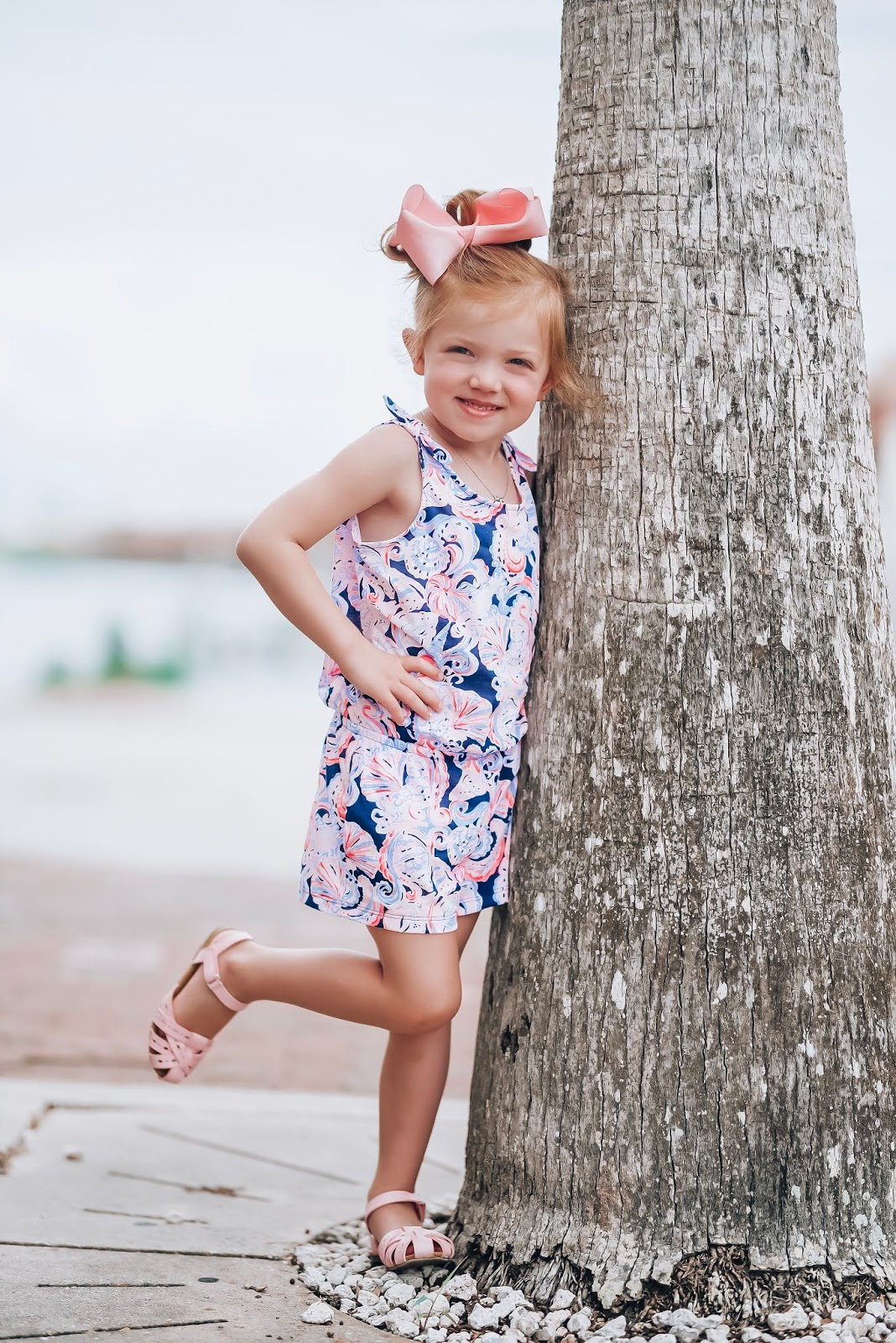 Happy First Day of Summer & National Wear Your Lilly Day: Mommy and me Lilly Rompers in High Tide Navy Its For Shore - Something Delightful Blog