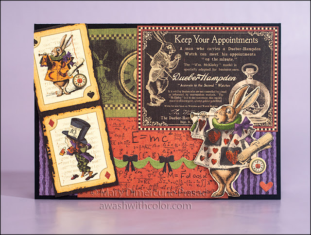 Hallowe'en in Wonderland, White Rabbit Pop-up Birthday Card