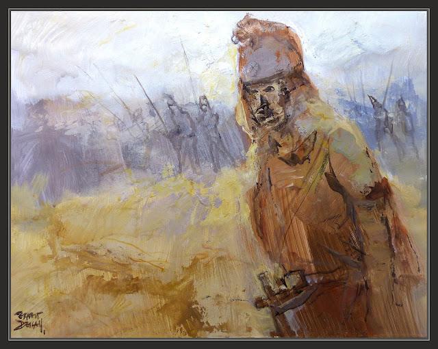 ALEJANDRO MAGNO-ARTE-ALEXANDRE EL GRAN-ART-PINTURA-DESIERTO-GÈDROSIA-FINAL-CONQUISTAS-HISTORIA-PINTURAS-ARTISTA-PINTOR-ERNEST DESCALS-