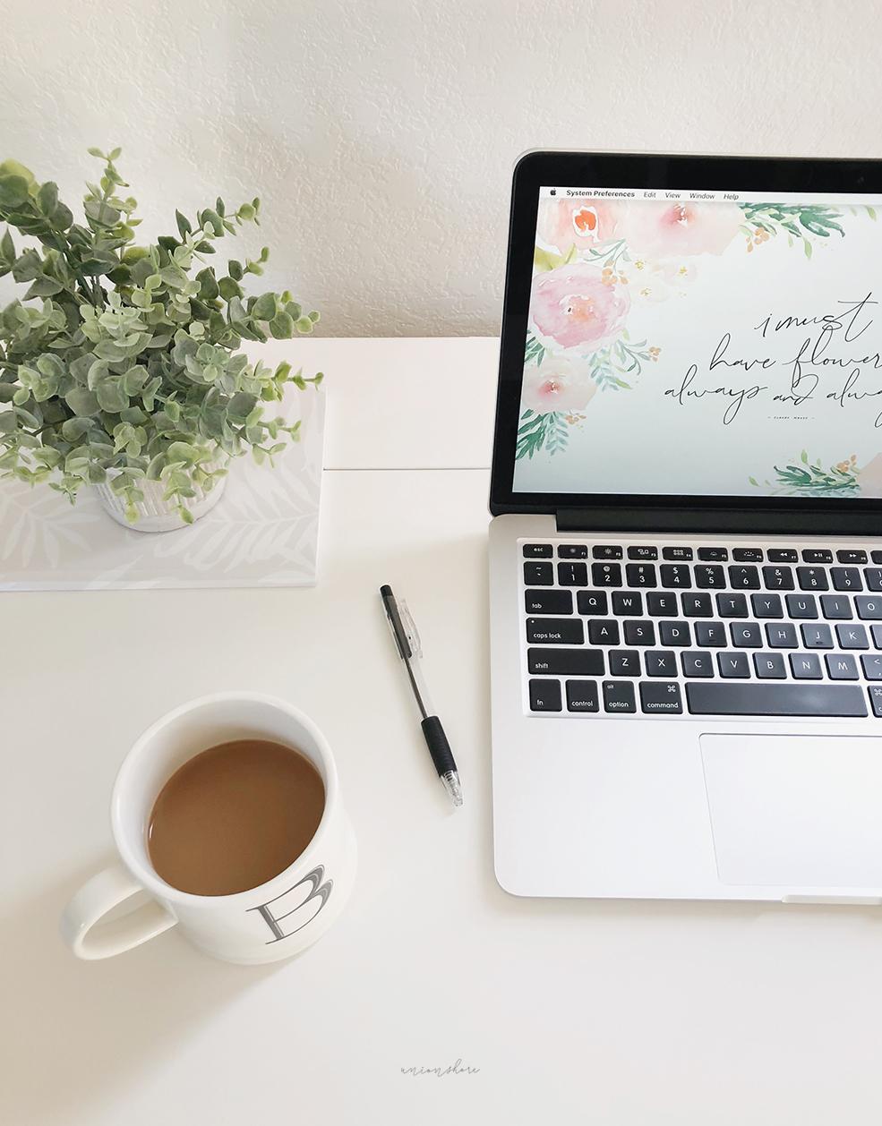 Free Download - Spring Floral Desktop Wallpaper - Union Shore Blog