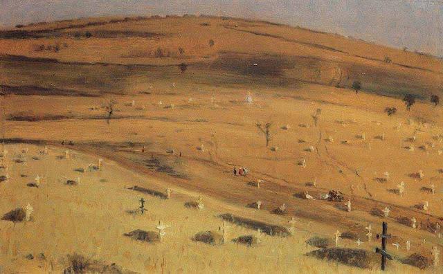 Василий Васильевич Верещагин - Место битвы 18 июля 1877 г. перед Кришинским редутом под Плевной. 1877-1880