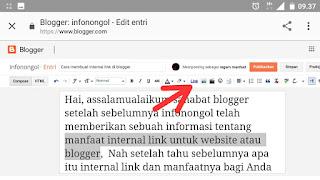 Cara memebuat internal link di blogger
