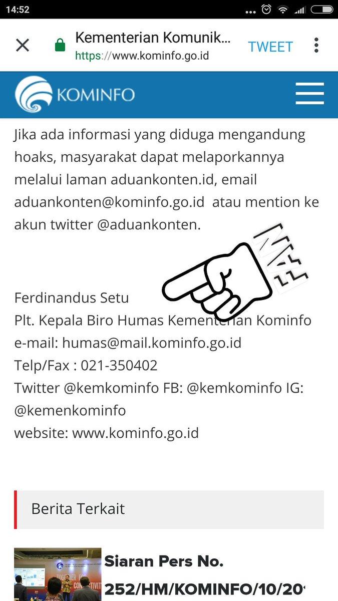 Pertanyaan Menohok FPI Untuk Kominfo Soal Laporan Hoaks