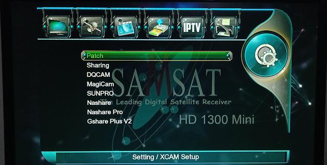 SAMSAT HD 1300 MINI 1506G 1G 8M NEW SOFTWARE WITH G-SHEARE-PLUS V2 OPTION