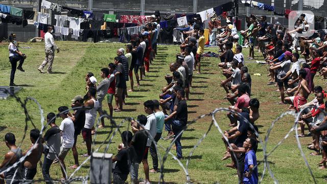 Saat Dijemur Antisipasi Wabah Corona ,Belasan Tahanan Polsek Bekasi Kota Kabur