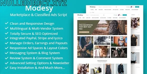 Modesy v 1.8.1 Nulled - Marketplace & Classified Ads Script