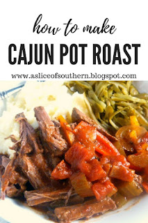 This Cajun Pot Roast is a twist on a classic but will have your mouth bursting with flavor and craving more! Slice of Southern