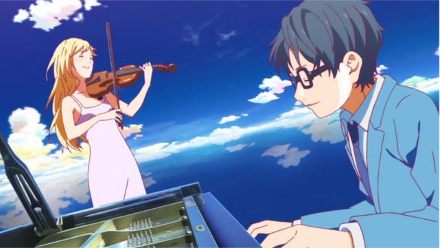 Shigatsu Wa Kimi No Uso di Rekomendasi Anime Music - Romance Terbaik