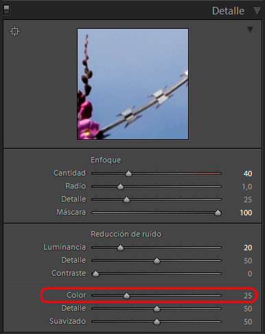 Revelado con Lightroom en 10 pasos - Ruido de Color