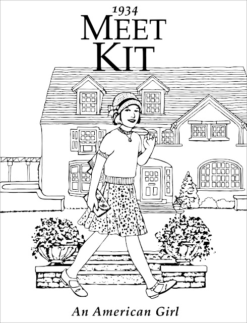 free Meet Kit Kittredge An American Girl coloring page