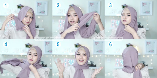 Style Kedua Tutorial Hijab Pasmina Simple