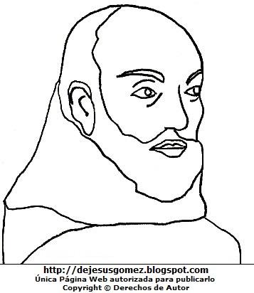 Dibujo de Juan de la Cruz para colorear, pintar e imprimir. Dibujo de  Juan de la Cruz de Jesus Gómez