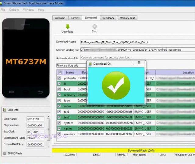 Cara Flashing Vivo Y83 PD1803BF Bootloop Via SP Flashtool 100% Sukses Tested! Gratis Tanpa Password