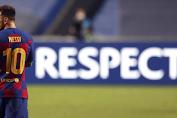 Usai Takluk 2-8, Messi Tinggalkan Barcelona ??