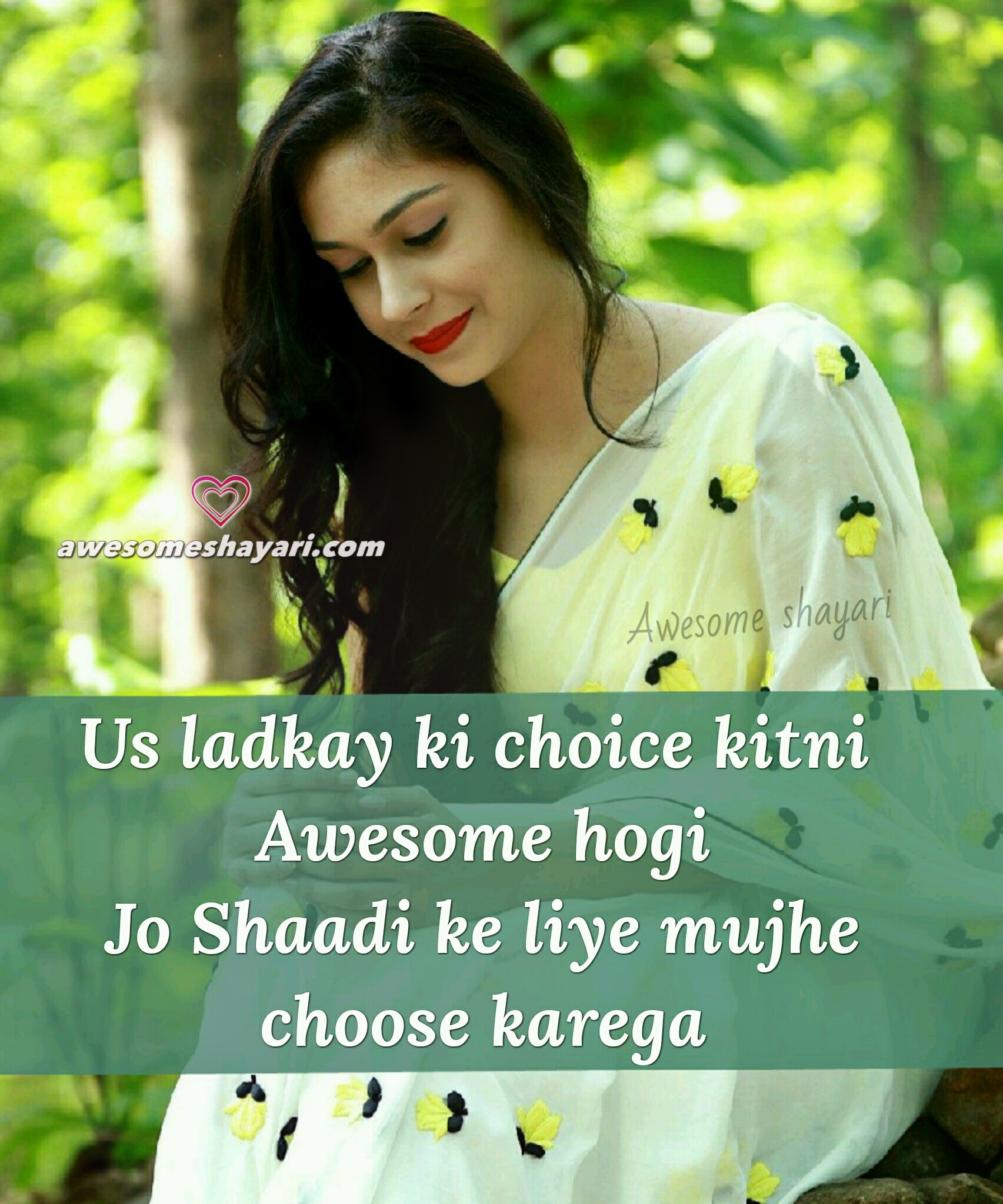awesome shayari dp girls