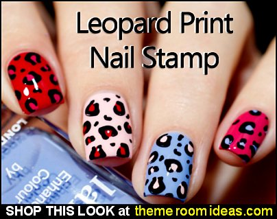 leopard print nail stamp - animal print nail stamp - leopard nail design - leopard nails