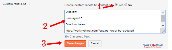 blogspot blog me custom Robot.txt file kaise add kare hindi me