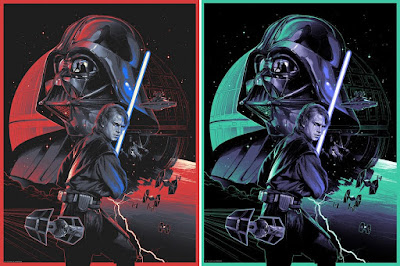 "Star Wars ""Anakin's Path"" Darth Vader Screen Print by Grzegorz Domaradski x Dark Ink Art x Zavvi UK"