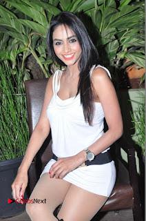 Actress Model Pooja Sri Stills in White Short Dress at F Club pre soft Launch  0092.JPG