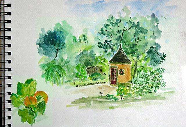 Art de vivre la peinture de peintrefiguratif croquis au for Au jardin des plantes poem