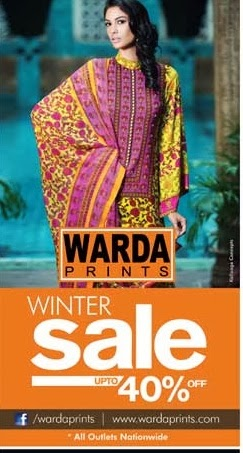 Warda Prints winter sale upto 40%