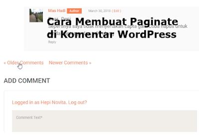 Cara Membuat Paginate di Komentar WordPress