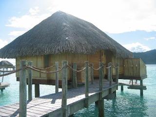 Hut on dock