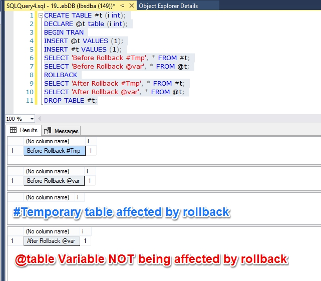 Hk sql server doctor table variable vs temporary table for Table variable in sql server