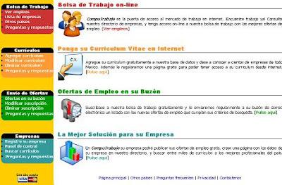 Es en COMPUTRABAJO.com.mx Mexico Ofertas de trabajo en Mexico
