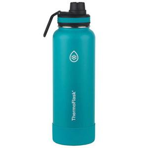 Bình Nước Giữ Nhiệt Nóng Lạnh Màu Xanh Thermoflask 1.1L Xách Tay Từ Mỹ